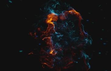 création animation logo particules cosmiques nébuleuses