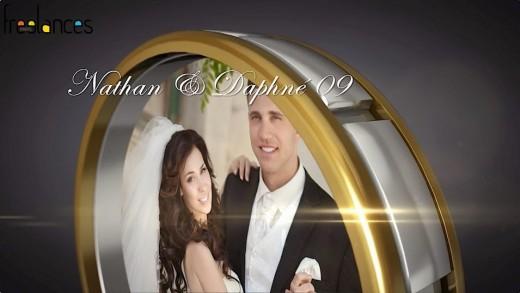 réalisation diaporama mariage anneau